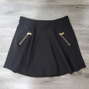 Express High Waisted Zipper Mini Skirt